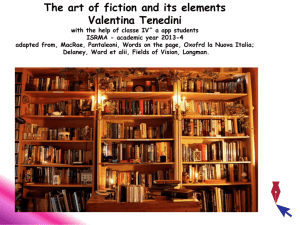 The art of fiction and its elements with the help of