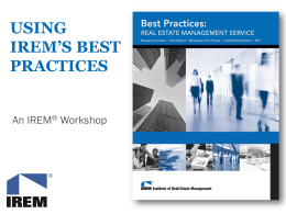 using irem's best practices
