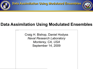Data Assimilation Using Modulated Ensembles
