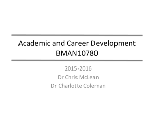Introduction to Academic and Career Development Course