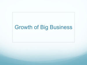 Growth of Big Business