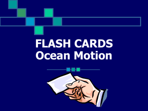 Ocean Motions Flash Cards