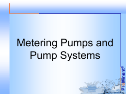 Metering Pump System - ProMinent Fluid Controls, Inc.