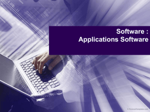 Software : Applications Software