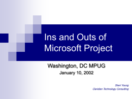 Ins and Outs of Microsoft Project