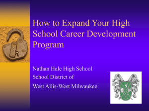 Implementing a Comprehensive High School Career Program that