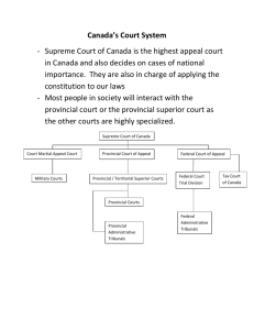 Canada's Court System