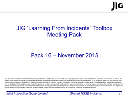JIG LFI Toolbox Pack 16 - Joint Inspection Group