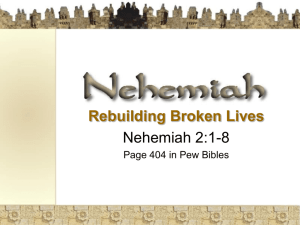 Nehemiah 2: Six Steps to Getting Started