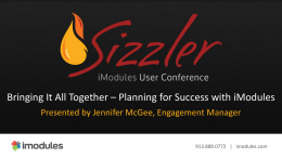 the presentation - iModules Client Community