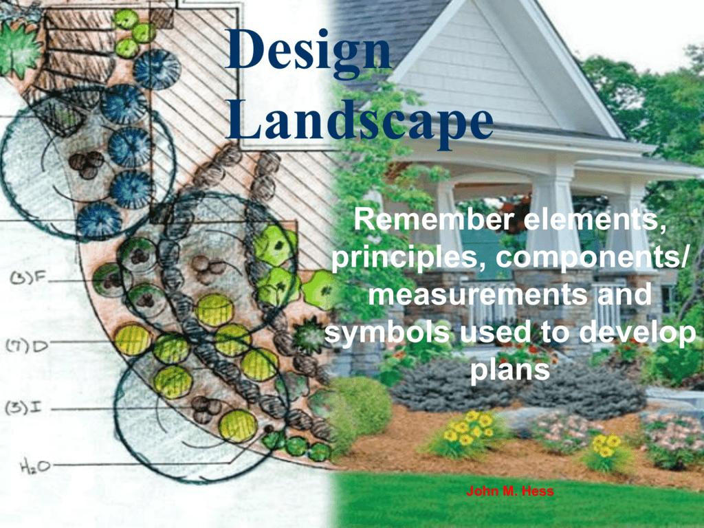 Ppt 4 01 Elements Of Landscape Design Ppt