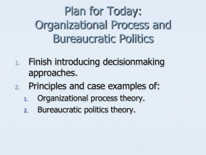 Organizational process theory - Political Science, Department of