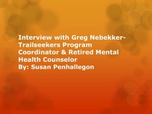 Interview with Greg Nebucker-Trailseekers Program
