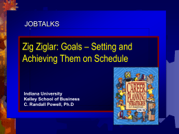 Zig Ziglar: Goals – Setting and Achieving Them