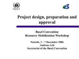 Project design, preparation and approval