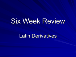Six Week Review