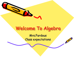 Welcome To Math - iBlog Teacher Websites