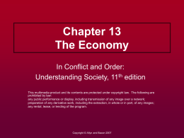 Chapter 13 The Economy