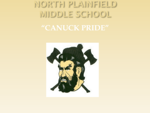 "NORTH PLAINFIELD MIDDLE SCHOOL ""CANUCK PRIDE"""