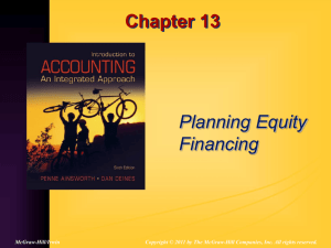 Chapter 13 Planning Equity Financing