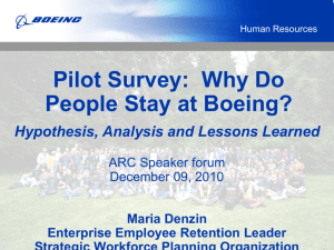 REACH Survey: Why Do People Stay at Boeing?