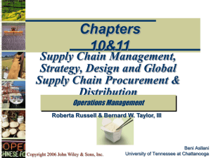 Supply Chain Management - University of San Diego Home Pages