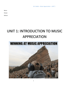 UNIT 1 packet music appreciation