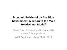 Economic Policies of UK Coalition Government: A Return to the