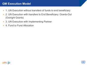 1/ Grants Execution Framework NY Workshop Jan 2014
