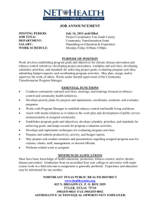 job announcement - Northeast Texas Public Health District