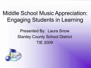 Middle School Music Appreciation: Engaging Students in Learning