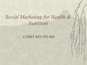 Social Marketing for Health & Nutrition