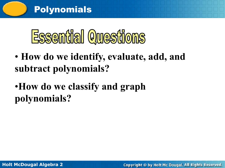 Holt McDougal Algebra 2