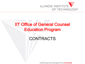 Points to Consider - Illinois Institute of Technology