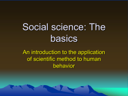 Social science: The basics