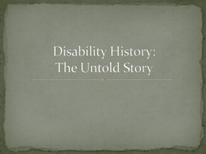 Disability History Powerpoint