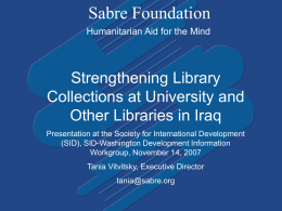 here - Sabre Foundation