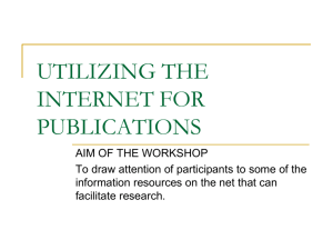 Workshop on utilizing the Internet for Research