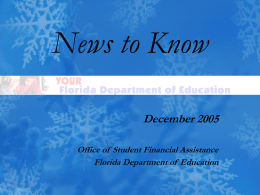 December 2005 - Florida Department of Education