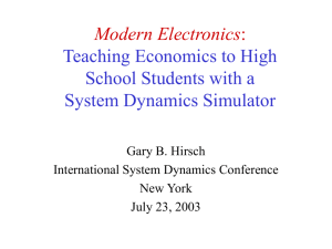 Modern Electronics: Teaching Economics to High School Students
