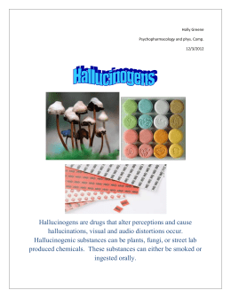 Hallucinogens fact sheet