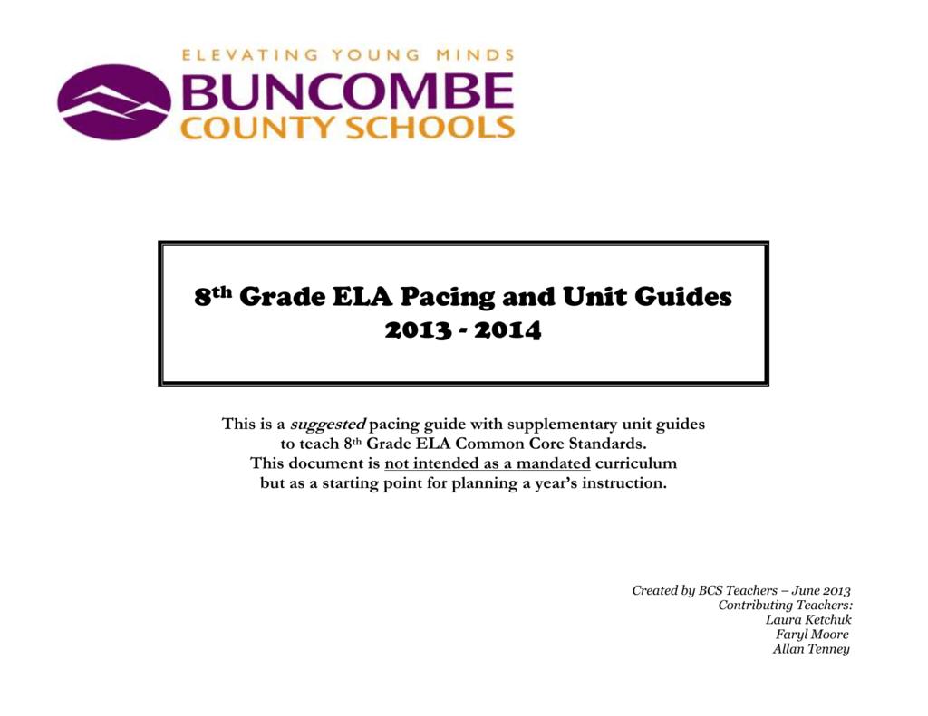 common core memoir unit for 8th grade