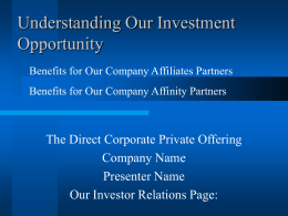 power point presentation - Business Capital Advice