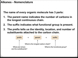 CHEM 210 Nomenclature Lecture