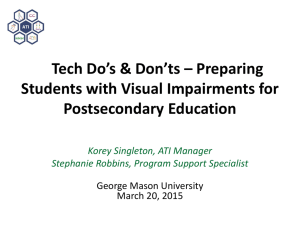 Tech Do's and Don'ts for Preparing Students with Visual Impairments