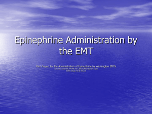 Epinephrine Administration by the EMT