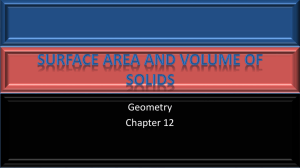 12 Surface Area and Volume of Solids