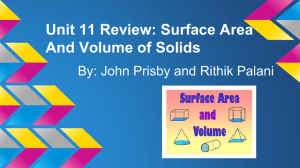 Unit 11 Review: Surface Area And Volume of Solids