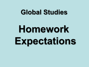 Homework Expectations - Fairfield Public Schools