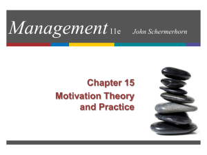 Chapter 14: Motivation -